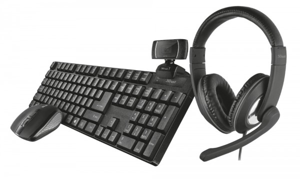 45044_Trust_Home_Office_SET_Wireless_Tastatur_Maus_Webcam_Headset_4in1_Büro