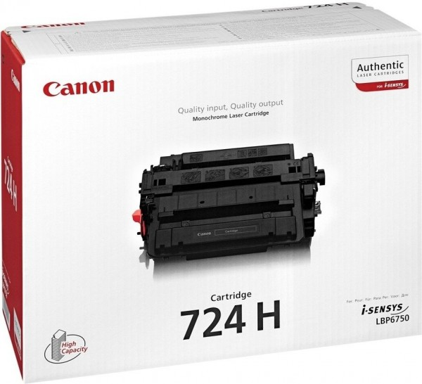 Original Canon Toner 3482B002 CRG-724H I-Sensys LBP-6750DN Neutrale Schachtel