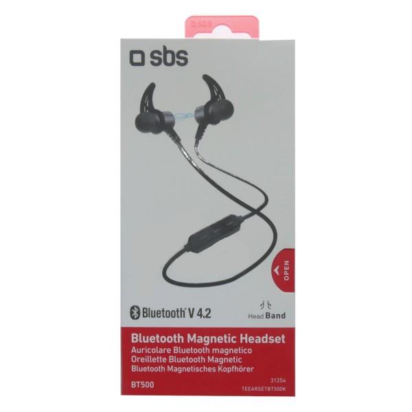 46362_SBS_Bluetooth_Magnetic_Headset_BT500_Wireless_Kopfhörer_Kabellos_magnetisch_schwarz