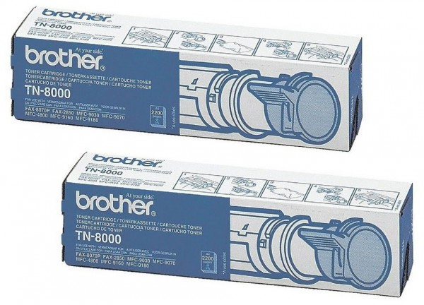 2x Original Brother Toner TN-8000 für MFC 9030 9070 4800 9160 9180
