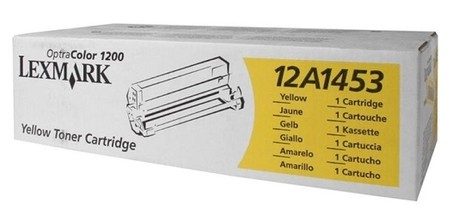Original Lexmark Toner 12A1453 gelb für Optra Color 1200 Neutrale Schachtel