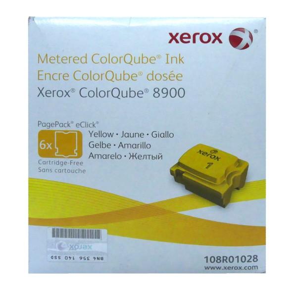 6x Original Xerox Tinte 108R01028 gelb für ColorQube 8900