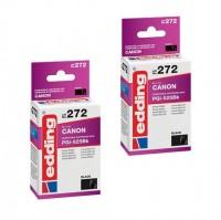 2x Original Edding Tinte Patrone 272 für Canon PGI-525 BK Pixma IP 4720 4940 6520