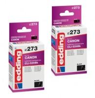 2x Original Edding Tinte Patrone 273 für Canon CLI-526 BK Pixma IP 4720 4940 6520