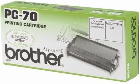 Original Brother Thermo-Transfer PC-70 für Fax V1 Fax T 7Plus 72 74 76 78 82 84