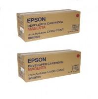 2x Original Epson Toner C13S050035 magenta AcuLaser C 1000 2000 B-Ware