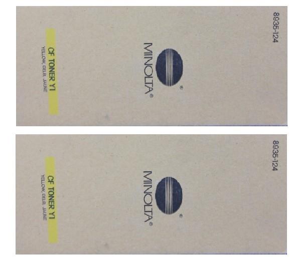 2x Original Konica Minolta Toner CF Y1 (8935-124) gelb für CF 900