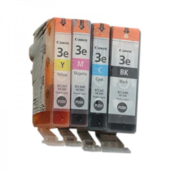 4x Original Canon BCI-3e Tinte Patronen iP3000 iP4000 iP5000 MP 750 760 780 Blister