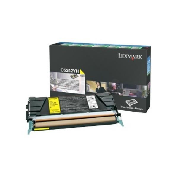 Original Lexmark Toner C5242YH gelb Optra C524 C532 C534