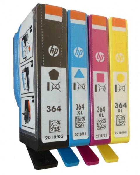 4x Original HP 364/XL Tinte Patrone Deskjet 3070 3520 3522 Officejet 4620 462 Blister