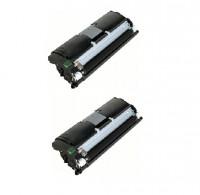 2x Original Konica Minolta Toner 1710589-004 schwarz für Magicolor 2400 Neutrale Schachtel