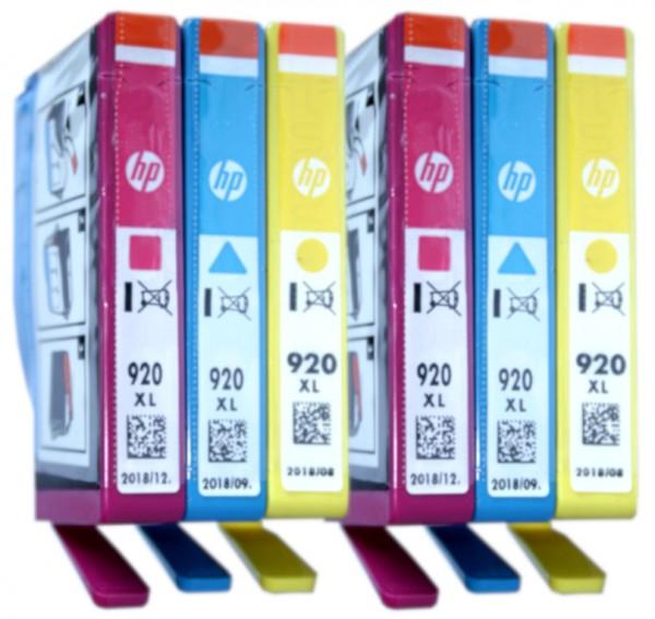 6x Original HP 920XL Tinte Patronen Officejet 6000 6500 7000 7500 Blister
