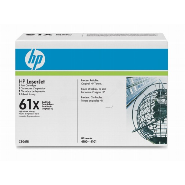 Original HP Toner Set 61X C8061D für LaserJet 4100 DTN 4100 MFP 4100 N B-Ware