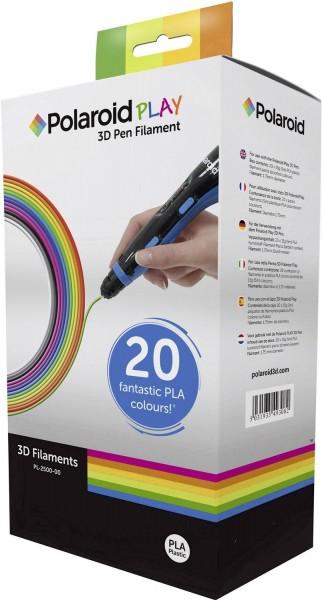 Polaroid Filament-Paket 3D-FP-PL-2500-00 PLA 1.75 mm Weiß, Schwarz, Gelb, Rot, Silber, Orange, Pin