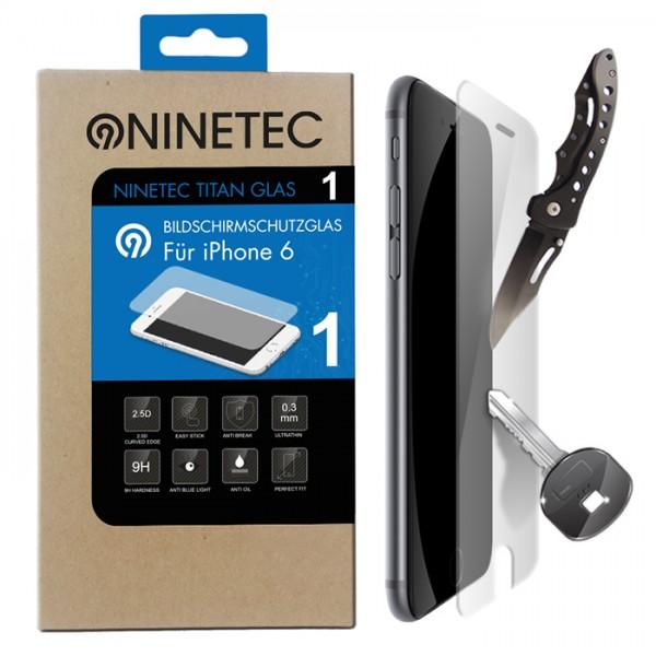 NINETEC Titanglas Schutzfolie für iPhone 6 Bildschirmschutzglas