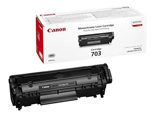 Original Canon Toner 7616A005 CRG 703 für i-SENSYS LBP 2900 3000 Neutrale Schachtel
