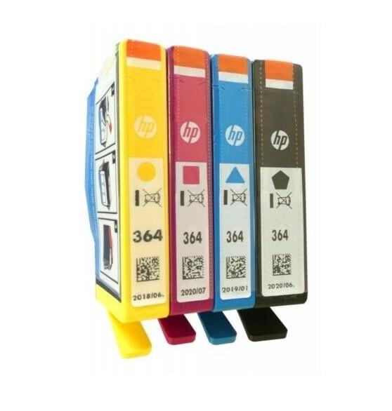 4x Original HP Tinten Patrone 364 für Deskjet 3070A 3520 3522 Officejet 4620 4622 Blister