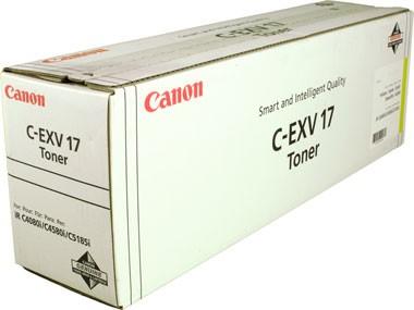 Original Canon Toner 0259B002 C-EXV 17 gelb für iR C 4080i 4580i 5185i B-Ware