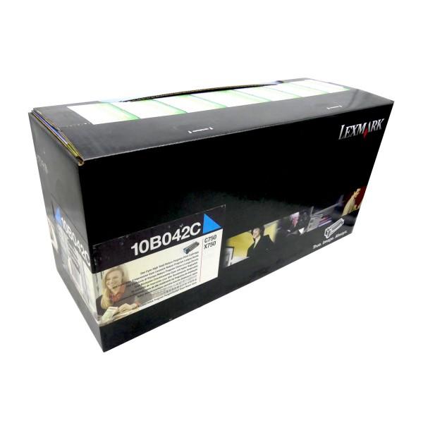 Original Lexmark Toner 10B042C cyan für C750 C750n X750 750