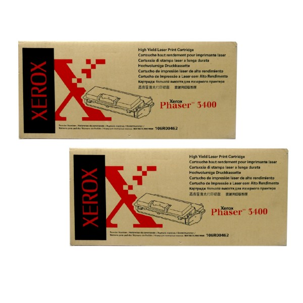 2x Original Xerox Toner 106R00462 schwarz für Phaser 3400