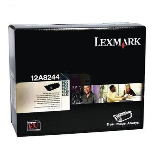 Original Lexmark Toner 12A8244 schwarz für T630 T632 T634 X630 X632 Neutrale Schachtel