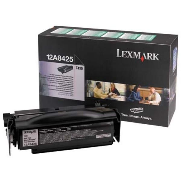 Original Lexmark Toner 12A8425 schwarz für T430 T430D T430DN