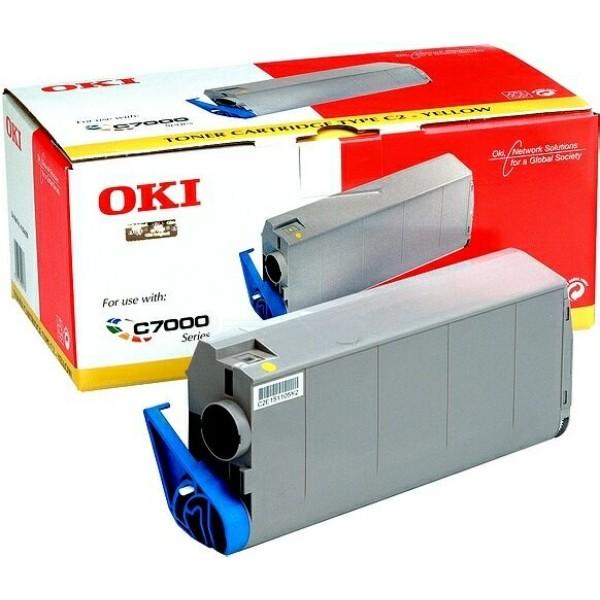 Original OKI Toner 41963005 gelb für C 7100 C7300 C7500 C7350 Neutrale Schachtel