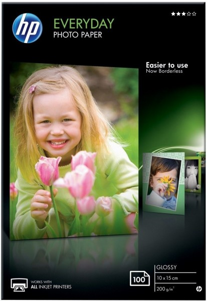 HP Photopapier Glossy (CR757A) 200g, 100 Blatt OEM