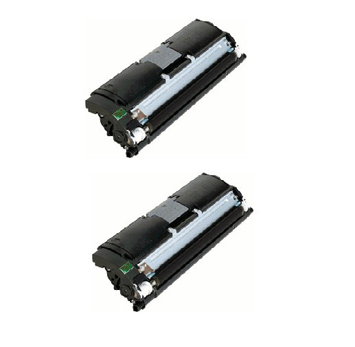 2x Original Konica Minolta Toner 1710589-004 schwarz für Magicolor 2400