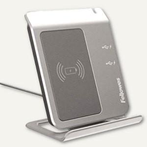 47328_Fellowes_Wireless_Induktions-Ladestation_Smartphone_kabellos_Laden_2_USB-Ports_grau