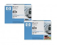 2x Original HP Toner 61X C8061X schwarz für LaserJet 4100 4100SE Neutrale Schachtel