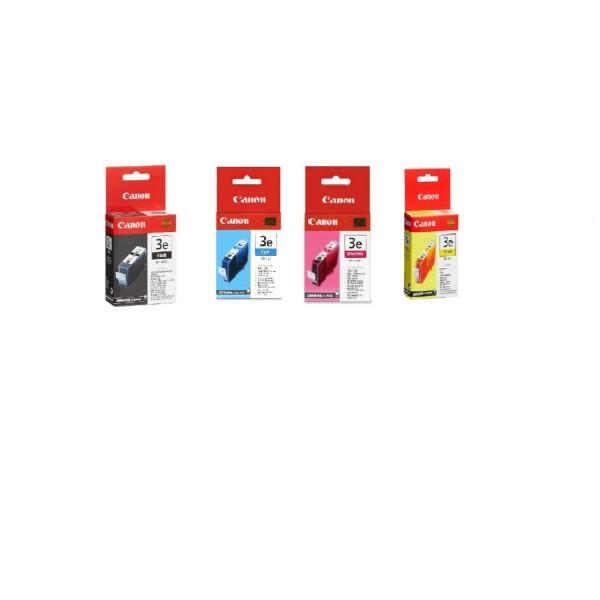 4 x Canon Inks BCI-3e Bk CMY i550 i560 i850 i865 i6500 MP700 MP730 Original