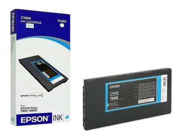 Original Epson Tinte T5492 cyan für Stylus Pro 10600 B-Ware