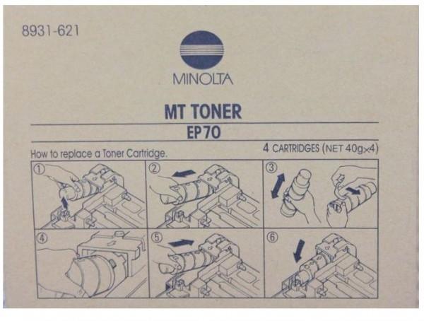 Original Konica Minolta Toner MT EP70 (8931-621) schwarz für EP 70 Neutrale Schachtel