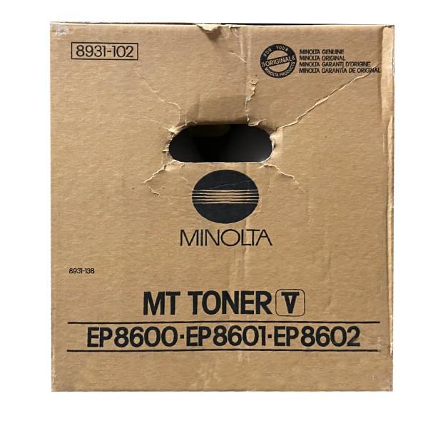 Original Konica Minolta Toner 8931-102 schwarz für EP 8600 8601 B-Ware