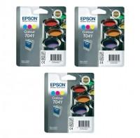 3x Original Epson T041 Tinte Patrone für Stylus C62 CX3200 CDP2500