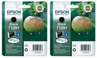2x Original Epson T1291 Tinte Patrone WF3540 WF3010 WF3520 WF3530
