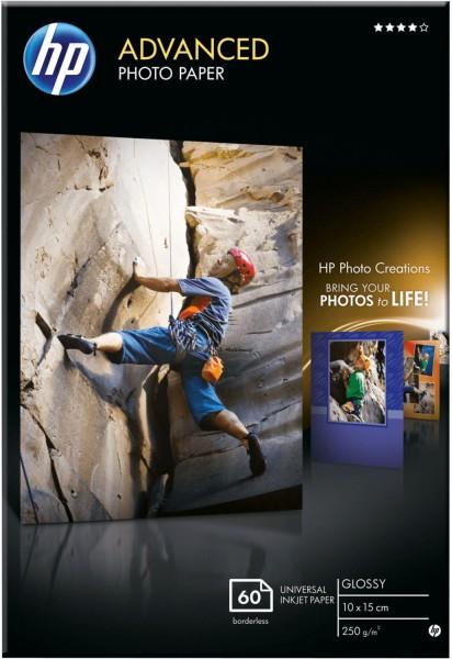HP Q8008A 60-Blatt-Fotopapier glänzend 10 x 15 cm 250g/m² OEM
