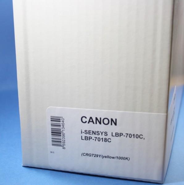 Canon Cartridge 729 YE Reman