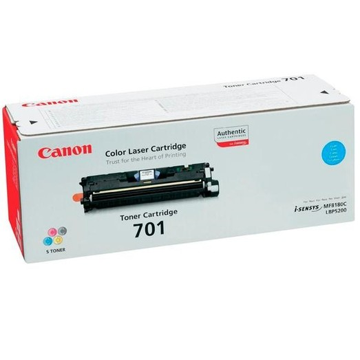 Original Canon Toner 9286A003 CRG701 cyan für LBP-5200 MF-8180C