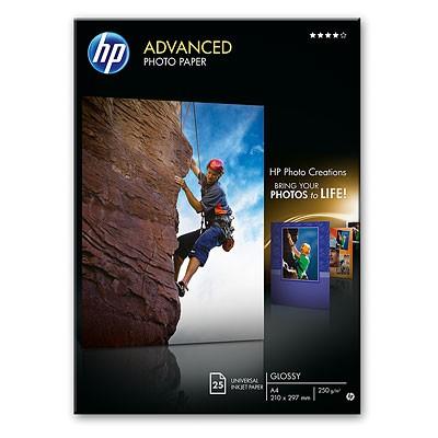 HP Advanced Fotopapier (Q5456A) glänzend A4 25 Blatt 250g