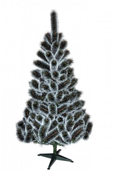 Weihnachtsbaum leuchtend Grün/Weiß Kiefer (Größe: 130 cm)