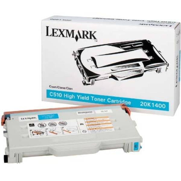 Original Lexmark Toner 20K1400 cyan für C 510 DTN N B-Ware