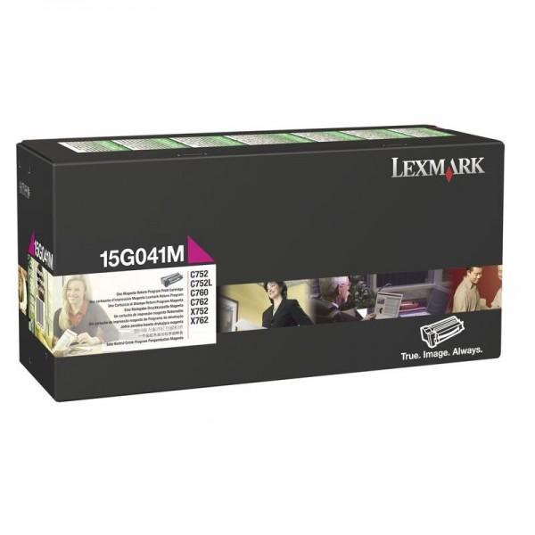 Original Lexmark Toner 15G041M magenta für C752 C762 X752 X762 Neutrale Schachtel