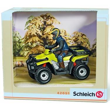 Schleich Wild Life - Quad mit Fahrer - Spielfigur 42051