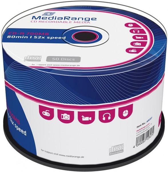 47330_MediaRange_50_x_CD-R_700_MB_CD-Rohlinge_Spindel