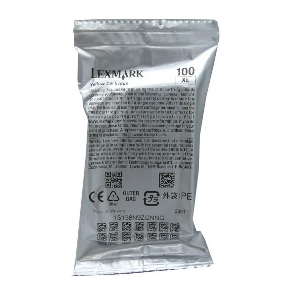 Lexmark 100XL YE (14N1071E) OEM Blister