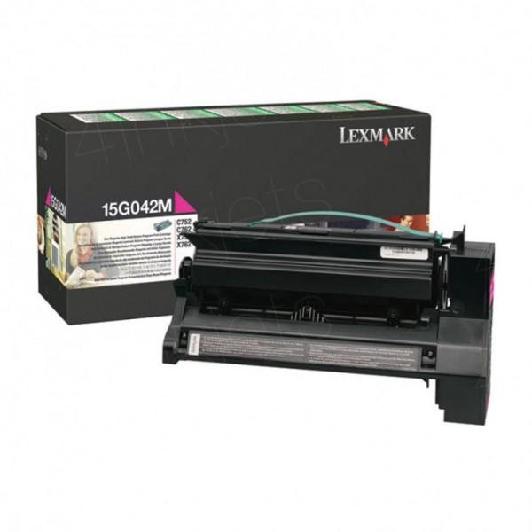 Original Lexmark Toner 15G042M magenta für C752 C762 X752 X762 Neutrale Schachtel